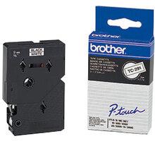 Brother TX-231, bílá / černá (12mm) - TX231