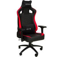 CZC.Gaming Fortress, herní židle, černá/červená