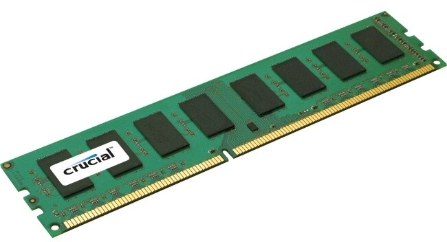 Crucial 4GB DDR3 1600, Single Ranked