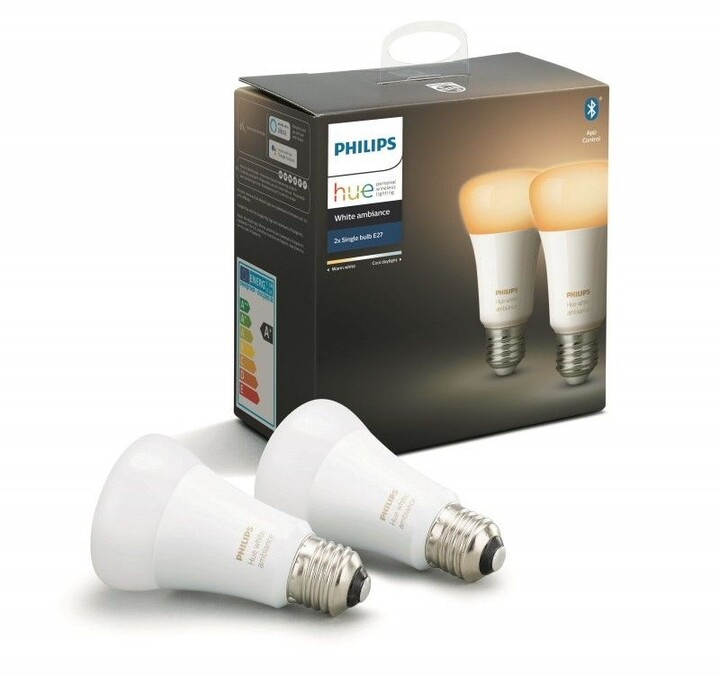 Philips žárovka Hue E27, LED, 8.5W, 2ks - 2. generace s BT