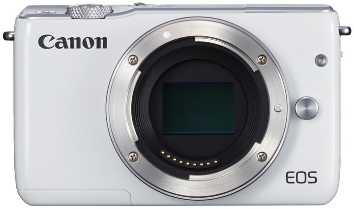 Canon EOS M10, tělo, bílá