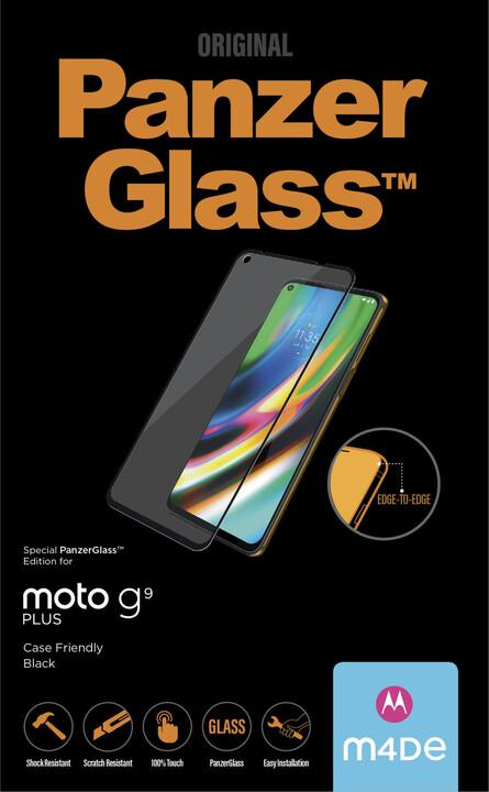PanzerGlass ochranné sklo Edge-to-Edge pro Motorola Moto G9 Plus, černá