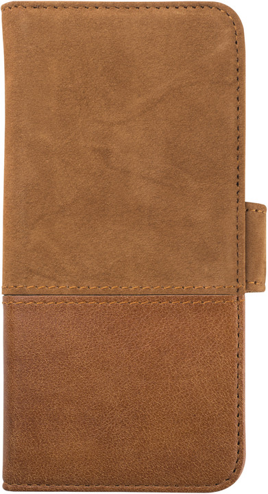 Holdit Wallet Case magnet Apple iPhone 6s,7,8 - Brown Leath/Sued