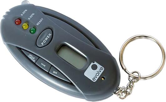 Evolveo Elektronický alkohol tester, přívěšek na klíče
