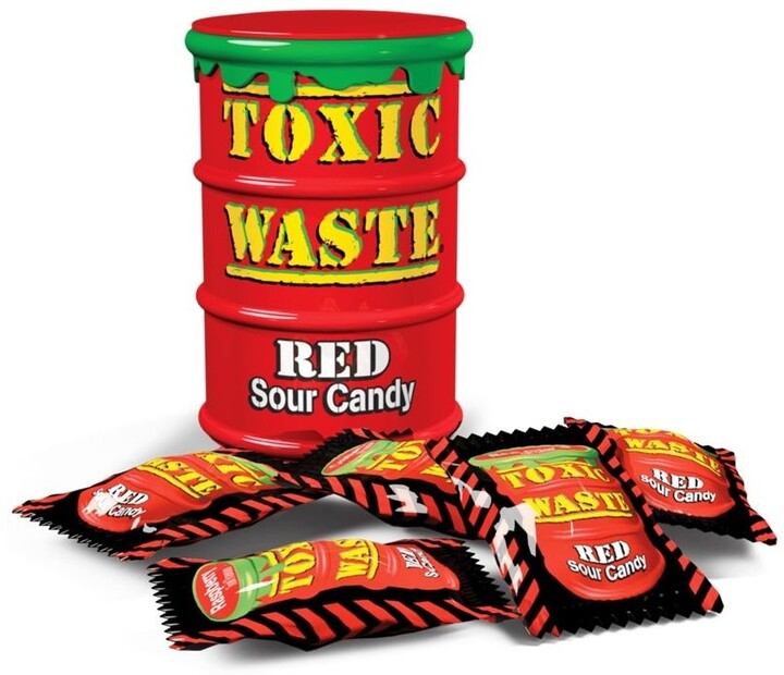 Toxic Waste Red Drum Extreme Sour Candy 42 g
