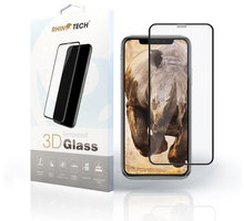 RhinoTech 2 Tvrzené ochranné 3D sklo pro Apple iPhone 7 Plus/8 Plus, černé (včetně instalačního rámečku)