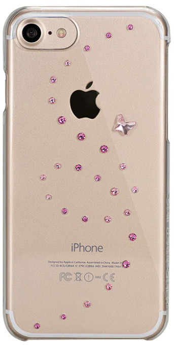 Bling My Thing zadní kryt Papillon Rose Sparkles pro Apple iPhone 7/8, with Swarovski® crystals