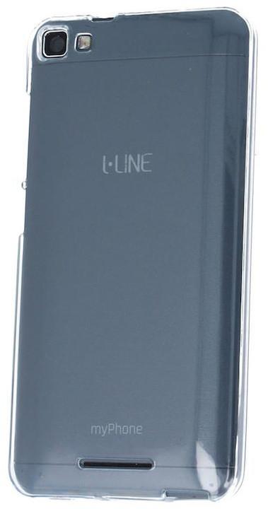 myPhone silikonové pouzdro pro L-line, transparentní bílá