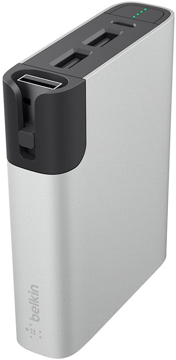 Belkin Power Pack 6000 mAh - MicroUSB, Lightning - Silver