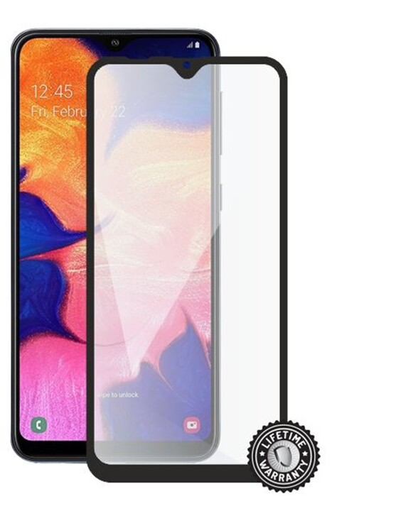 Screenshield ochrana displeje Tempered Glass pro Samsung Galaxy A10 (A105) , Full Cover, černá