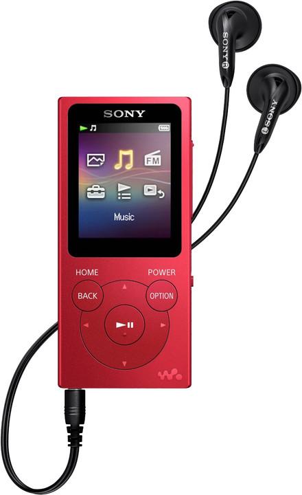 Sony NWZ-E394, 8GB, červená