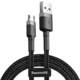 Baseus odolný nylonový kabel USB Micro 1.5A 2M, šedá + černá