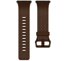 Fitbit Ionic perforovaný kožený řemínek Cognac - velikost L FB164LBDBL