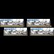 G.SKill Trident Z Royal Elite Silver 32GB (4x8GB) DDR4 3600 CL14