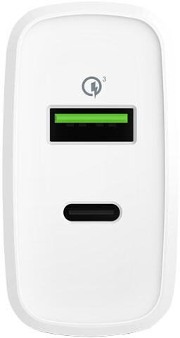 EPICO nabíječka USB-C, QC, PD, 36W, bílá