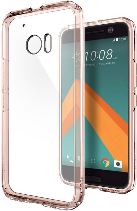 Spigen Ultra Hybrid, rose crystal - HTC 10