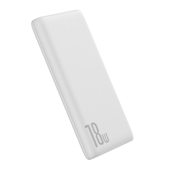 Baseus powerbanka Bipow PD + QC 10000mAh 18W, bílá