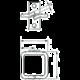 Solarix vyvazovací háček D1 40x40mm