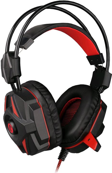 C-TECH GHS-04R Kalypso, černá/červená