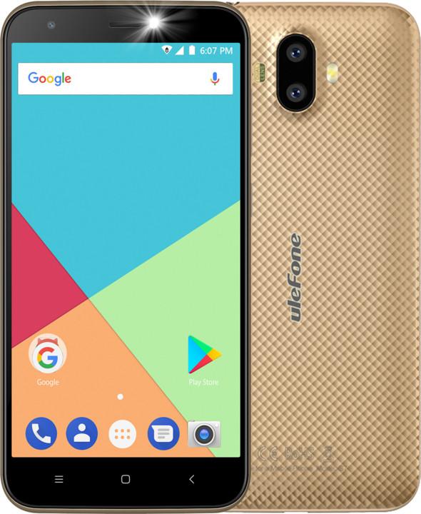 Ulefone S7, 1GB/8GB, zlatá