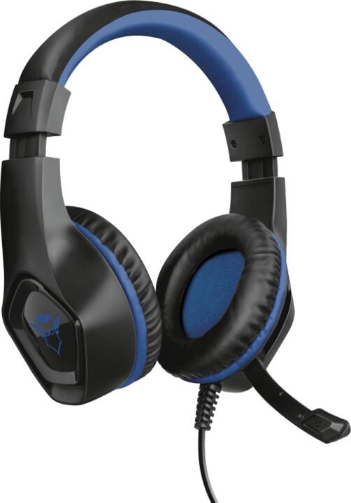 Trust GXT 404B Rana, černá/modrá (PS4/PS5)