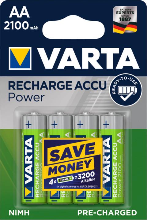 VARTA nabíjecí baterie Power AA 2100 mAh, 4ks