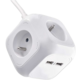 Emos rozbočovací kostka s prodl. přívodem, 2 USB,4 zásuvky,1,9m
