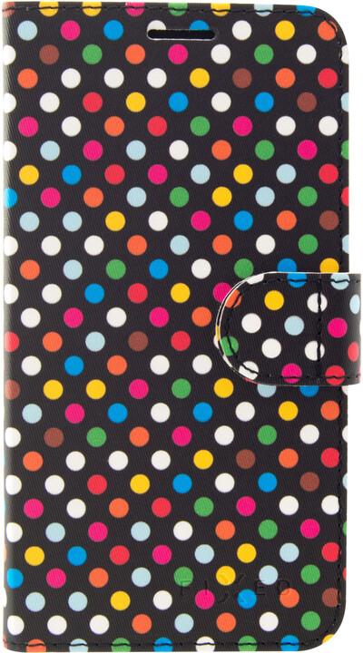 FIXED FIT pouzdro typu kniha pro Huawei P20 Lite, motiv Rainbow Dots