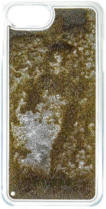 Guess Liquid Glitter Hard Triangle Gold pouzdro pro iPhone 7