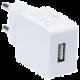 CONNECT IT nabíjecí adaptér 1xUSB port 1 A, bílá