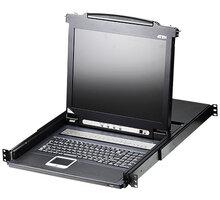 """ATEN CL1008 - 8-portový KVM switch (PS/2 i USB), 17"""" LCD, US klávesnice - CL1008M-ATA-2XK06A1G"""