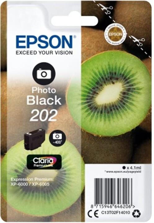 Epson C13T02F14010, 202 claria photo black