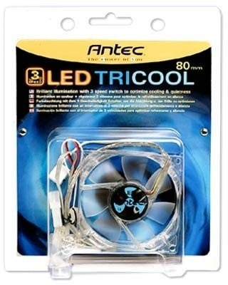 Antec 0-761345-75024-0 TriCool 120MM Blue LED PC Computer Case Fan NEW