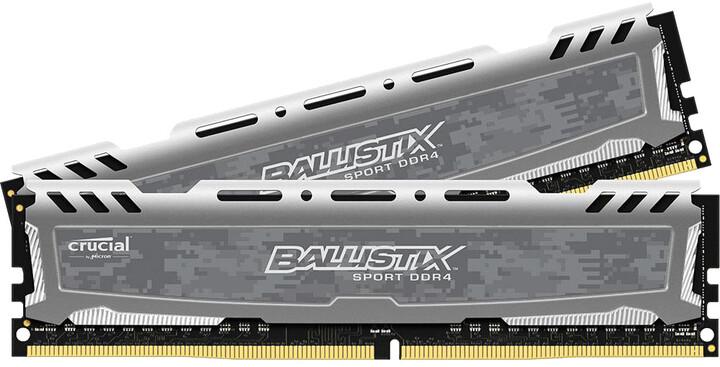 Crucial Ballistix Sport LT Grey 32GB (2x16GB) DDR4 2400