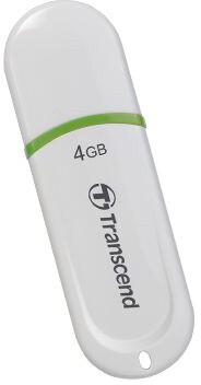 Transcend JetFlash 330 4GB, bílo/zelený