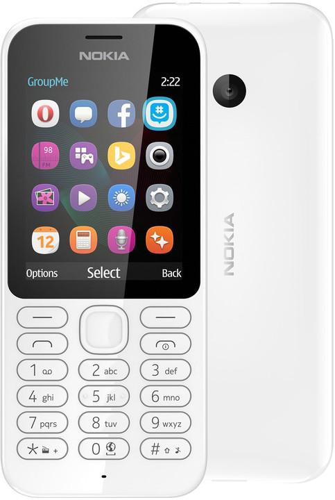 Nokia 222 Dual SIM, bílá