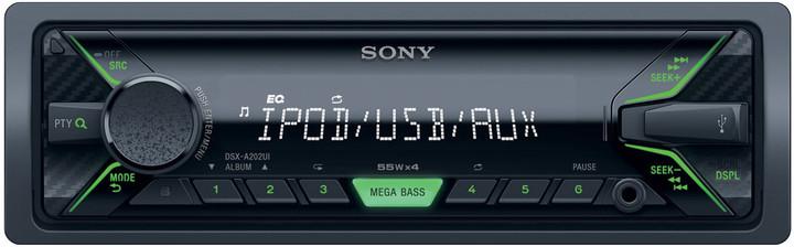 Sony DSX-A202U, zelená