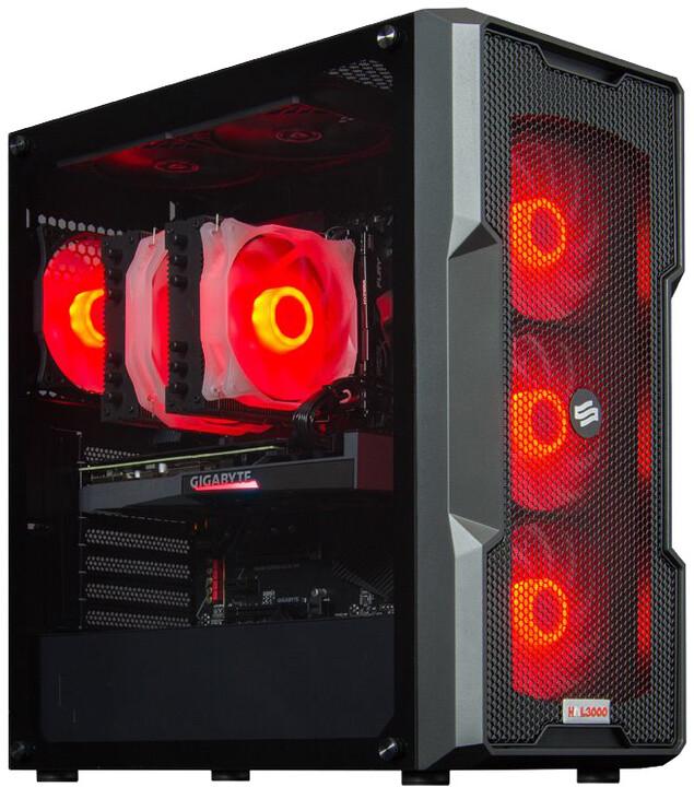 HAL3000 Alfa Gamer Ultimate 3070, černá