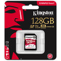 Kingston SDXC Canvas React 128GB 100MB/s UHS-I U3
