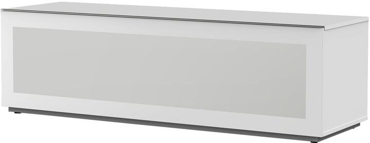 Meliconi 500412 TV stolek, skleněný 16050F, bílá