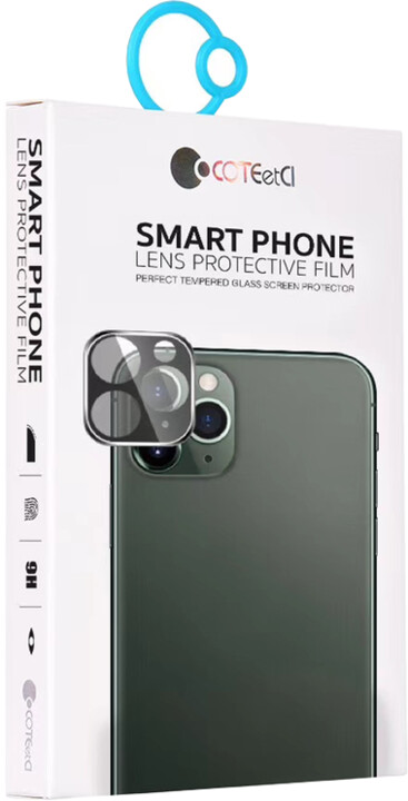 COTEetCI tvrzené sklo fotoaparátu pro Apple iPhone 11, stříbrná