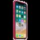 Apple silikonový kryt na iPhone X, vínová