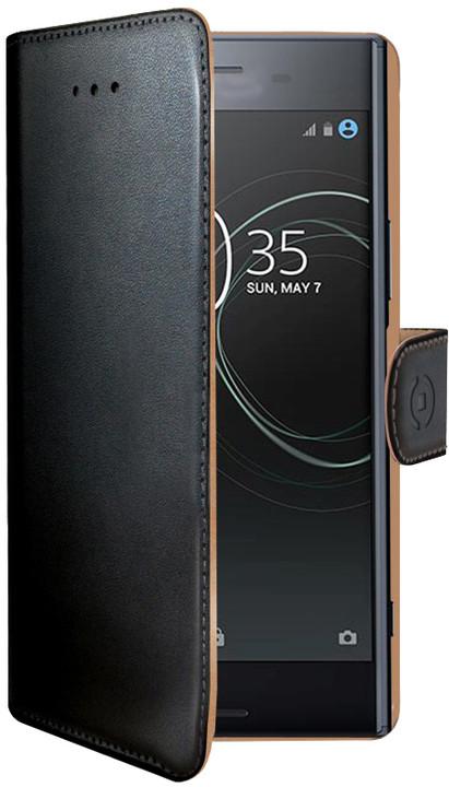 CELLY Wally pouzdro typu kniha pro Sony Xperia XZ Premium, PU kůže, černé