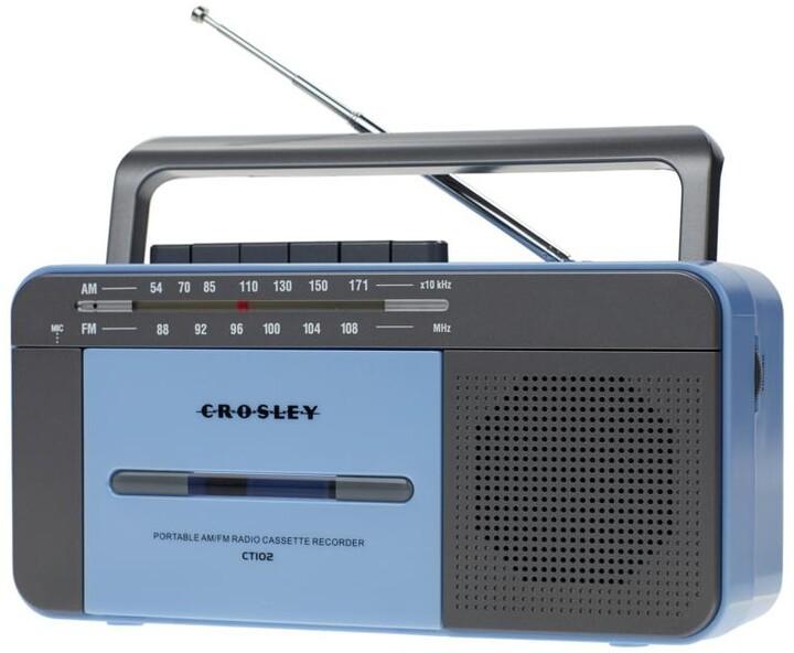 Crosley Cassette Player, modrá/šedá
