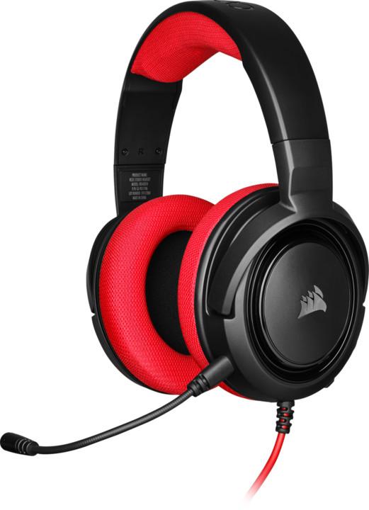 Corsair HS35 Stereo, červená