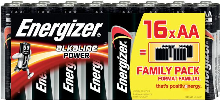 Energizer baterie LR6/16 Power Alkaline Family AA/16, 16ks