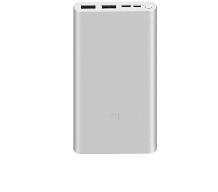 Xiaomi Mi Fast Charge Power Bank 3 10000mAh, stříbrná