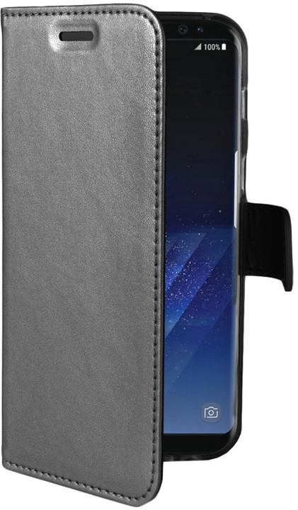 CELLY Air ultra tenké pouzdro typu kniha pro Samsung Galaxy S8, stříbrné