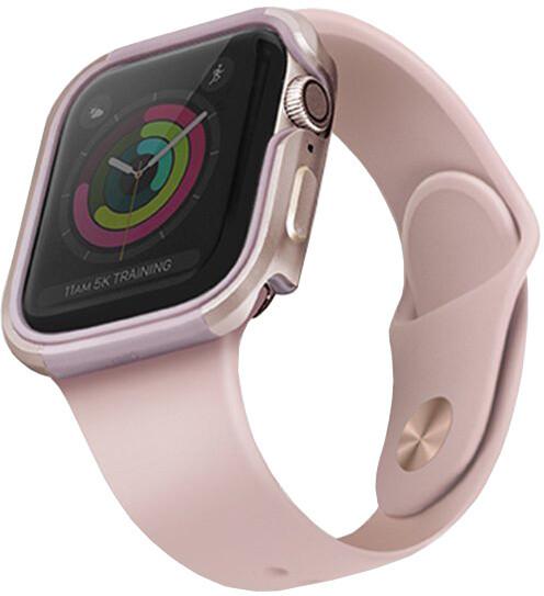 UNIQ ochranný kryt Valencia pro Apple Watch 44mm, růžová