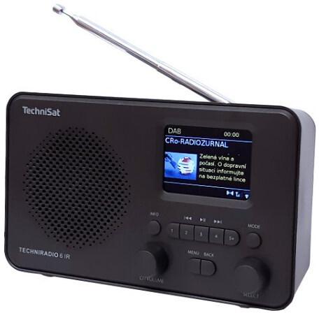 TechniSat TECHNIRADIO 6 IR, černá